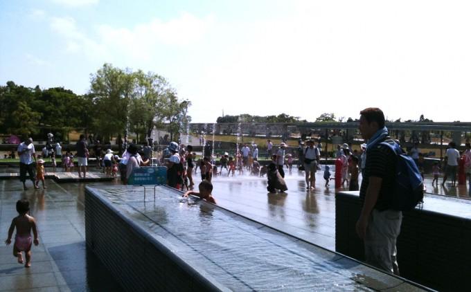 ガーデンパーク 水遊び広場